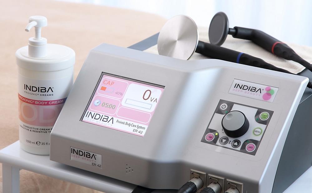 INDIBA®による深部加温で身体の代謝を高め、痩身・美容・体質改善を図ります。詳しいメニューはこちらをご覧ください。